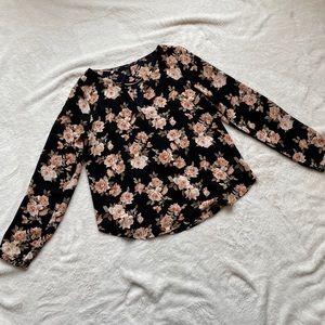 💥F21 black floral blouse💥